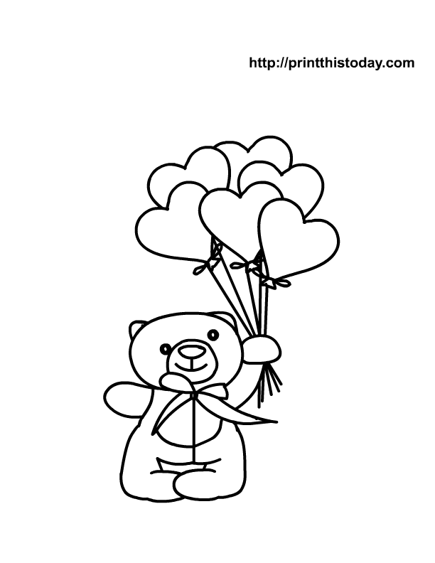 heart coloring pages - Heart Coloring Pages Print