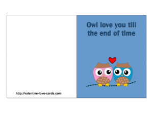 free printable owl love card
