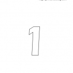 free printable math worksheet with number 1