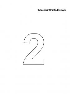 printable math coloring page with number 2