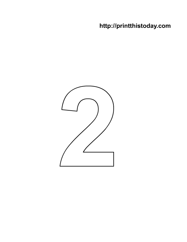 Nifty image with number 2 printable