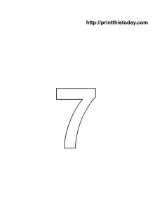 free printable number 7 coloring page