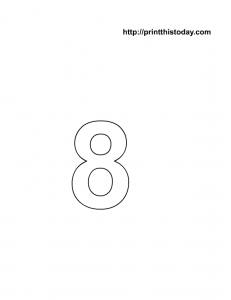 free printable number 8 coloring page