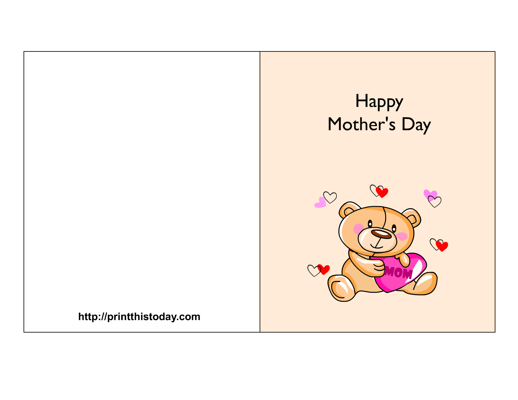 This is a photo of Smart Print Out Mother Day Cards