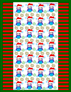 christmas owl candy wrapper