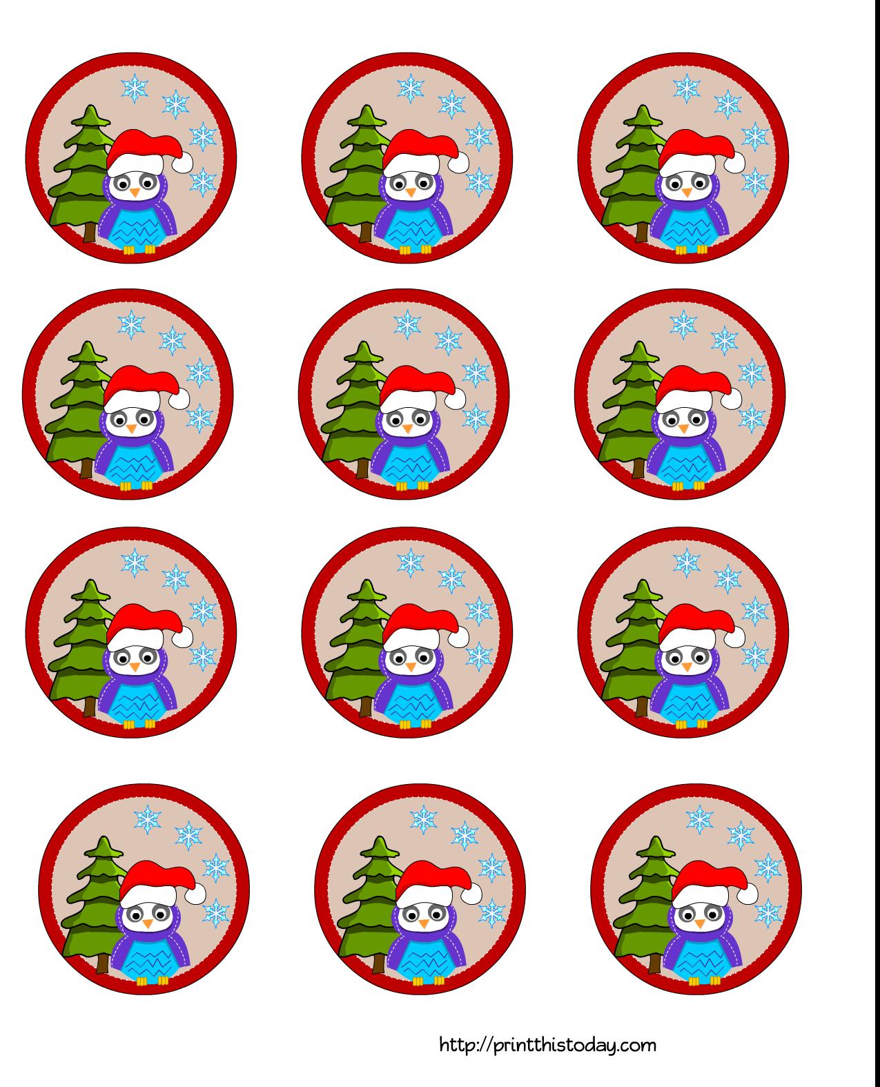 Christmas Tree Cake Topper Template