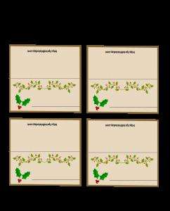 Mistletoe Christmas Place Cards