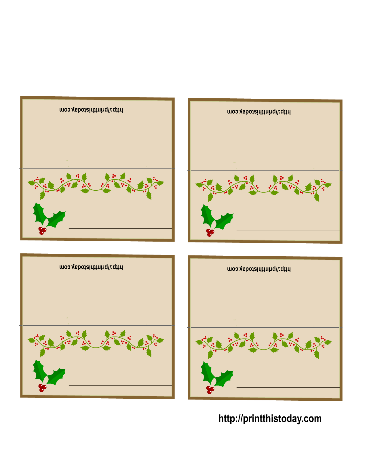 Christmas Place Cards To Print Geccetackletartsco - Christmas place cards template