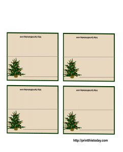 Christmas Tree Place Cards