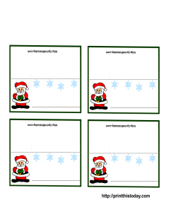 Santa Claus Place Cards for Christmas