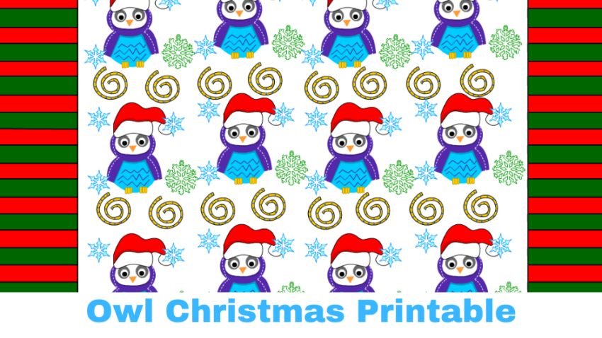 Owl Christmas Printable Stationery, Bookmarks, Candy-wrappers, Labels, and More :)