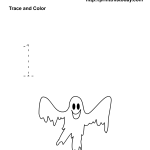 Free Printable Number one Halloween Math Worksheet