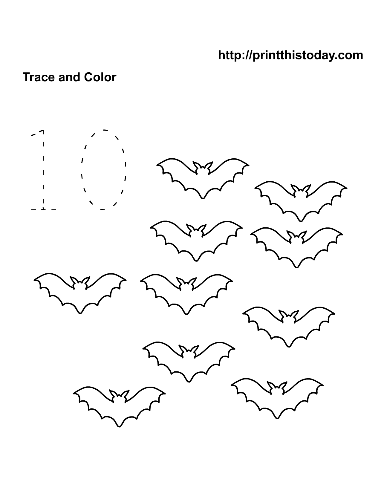Free Printable Halloween Math Worksheets for PreSchool and – Printable Number Worksheets for Kindergarten
