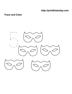 Number 5 worksheet on Halloween theme
