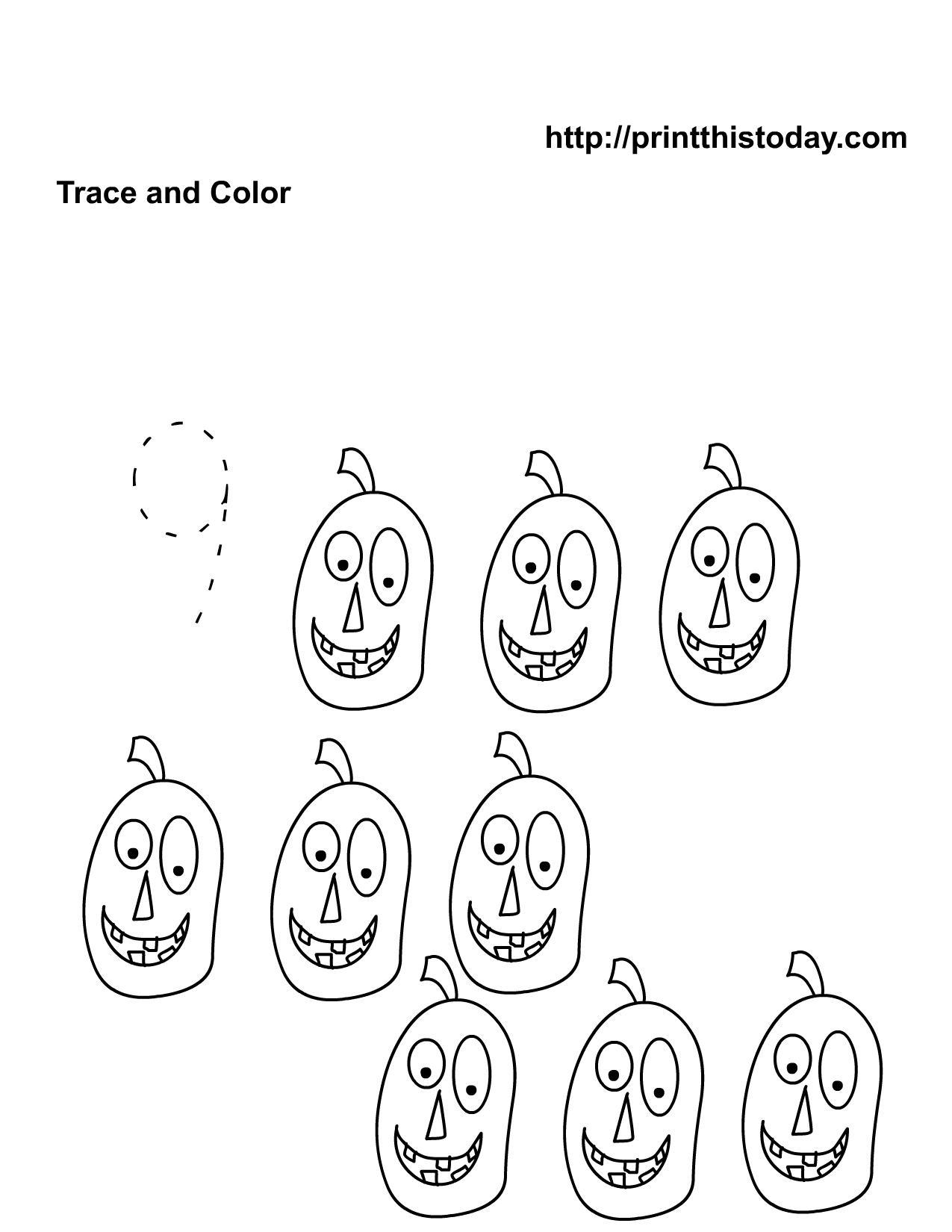 Free Printable Halloween Worksheets