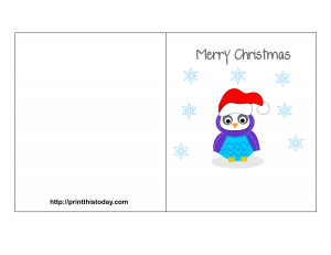 Free Printable Merry Christmas Card