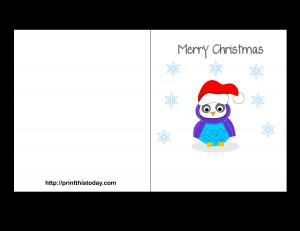 Free Printable Merry Christmas Card