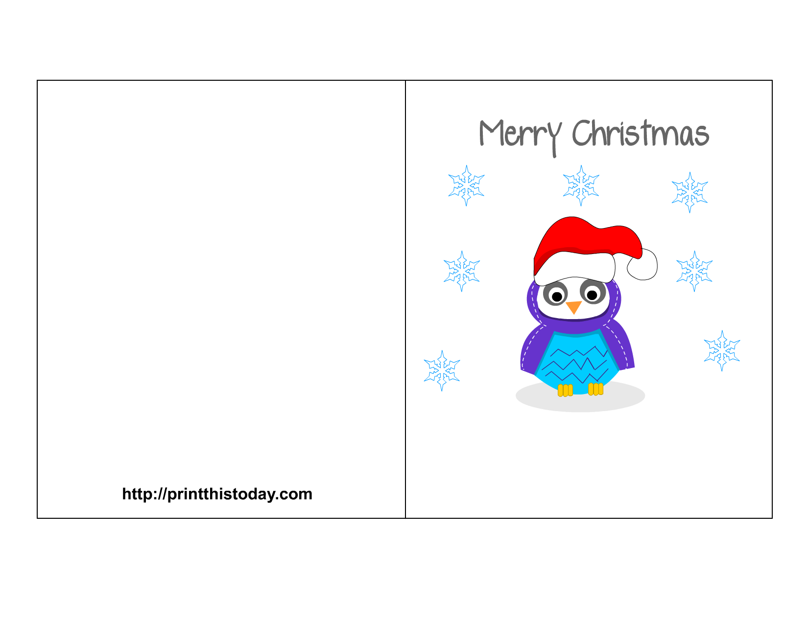 Owl Christmas Printable Stationery, Bookmarks, Candy ...