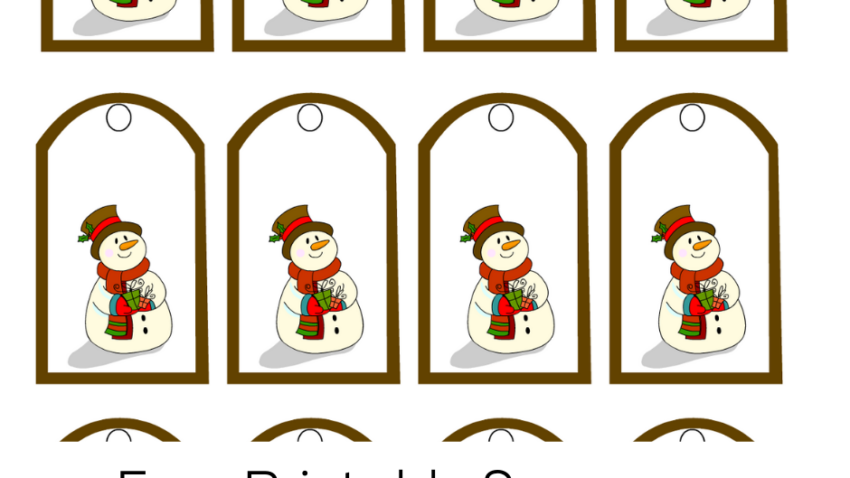 Free Printable Snowman Christmas Gift Tags