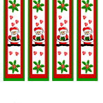 Christmas Bookmarks featuring Santa Claus