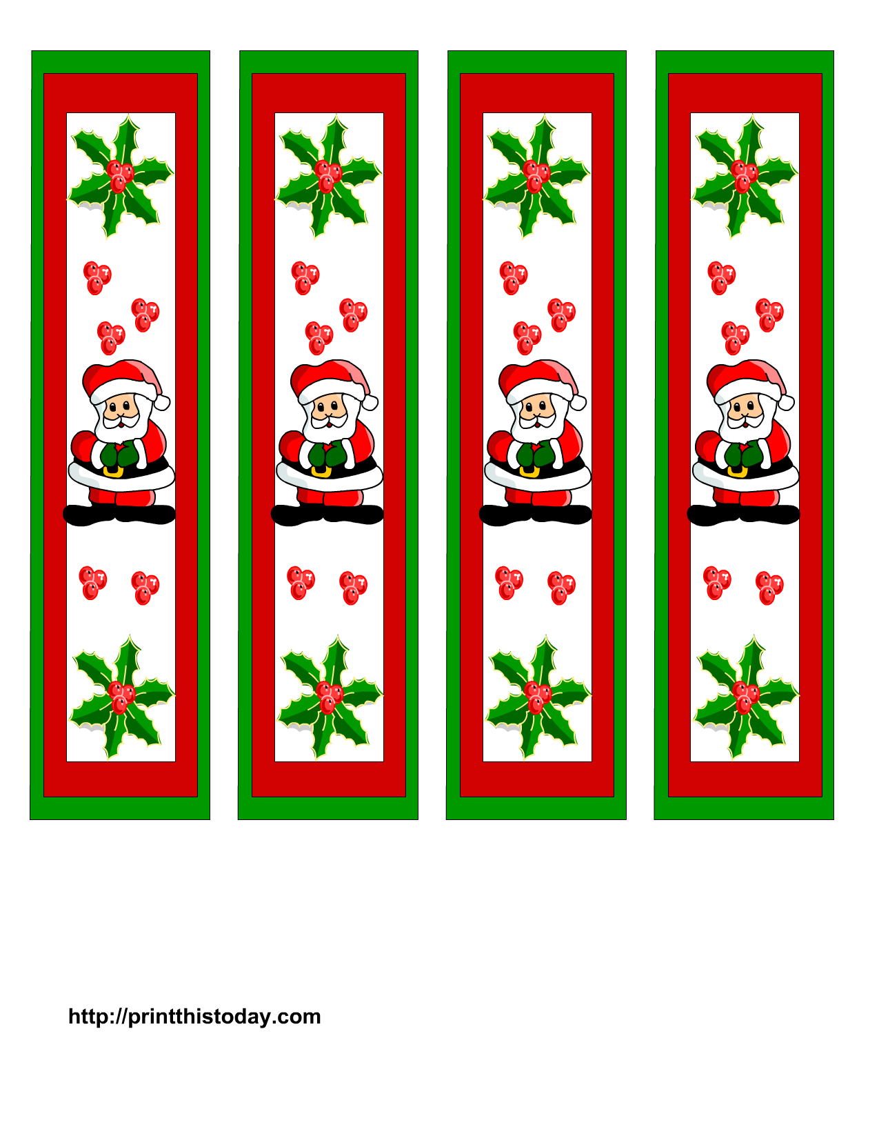 Print This Today, More Than 1000 Free Printables  Christmas Bookmark Templates