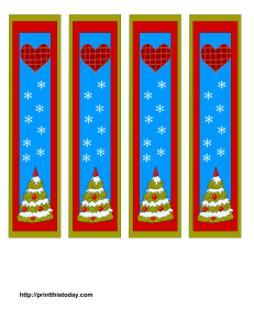 Cute Bookmarks featuring Christmas tree