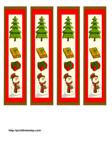 Snowman and Christmas Tree Bookmarks