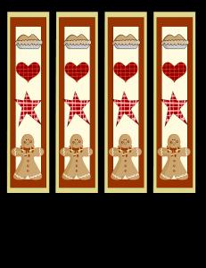 Gingerbread man Bookmarks