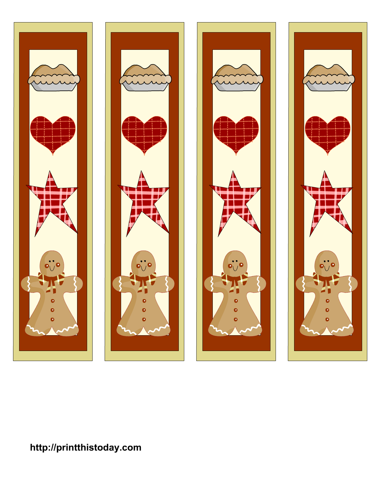 free bookmark templates - free printable christmas bookmarks