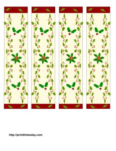 Bookmarks with Christmas Pattern