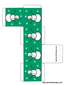 Free printable Christmas box template