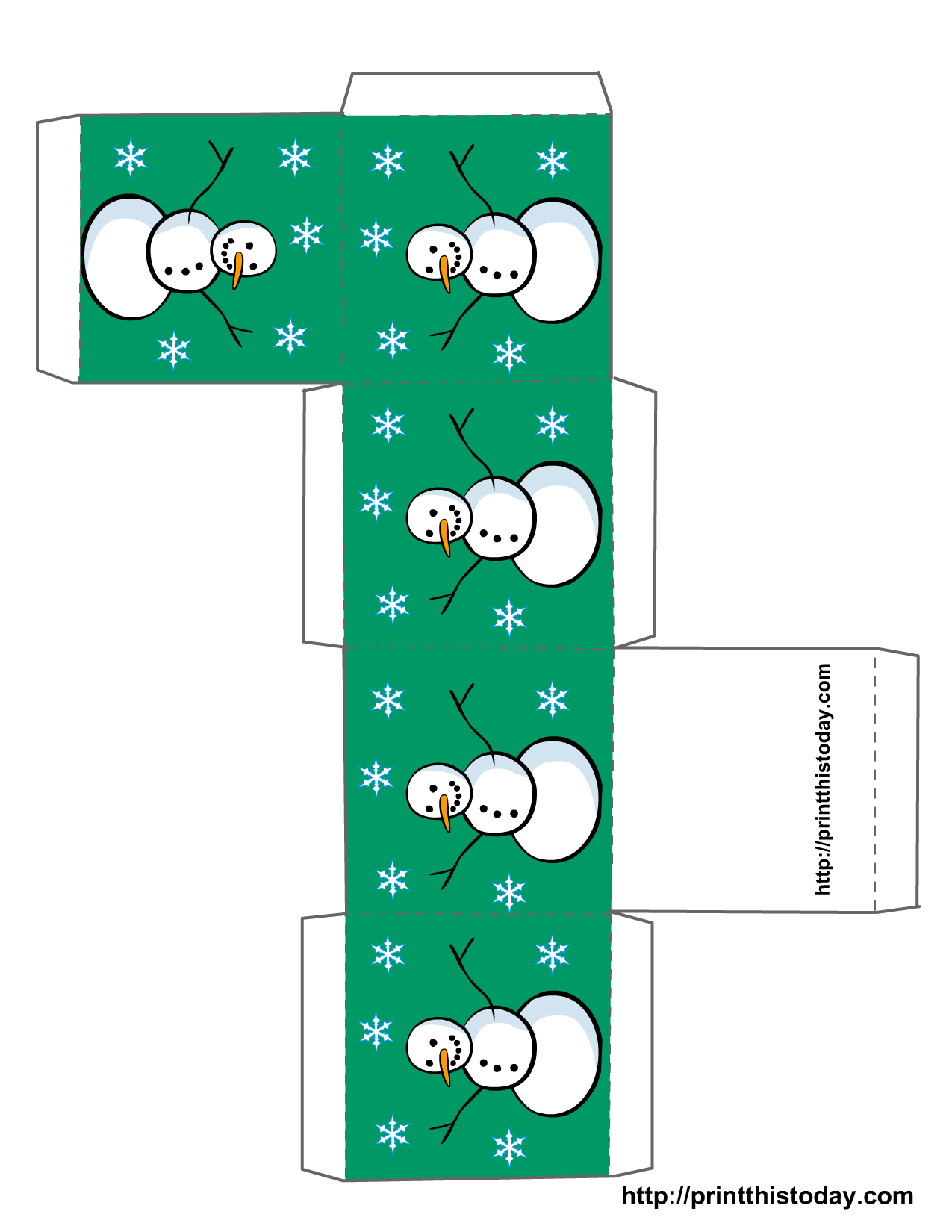 printable christmas boxes printable christmas box template