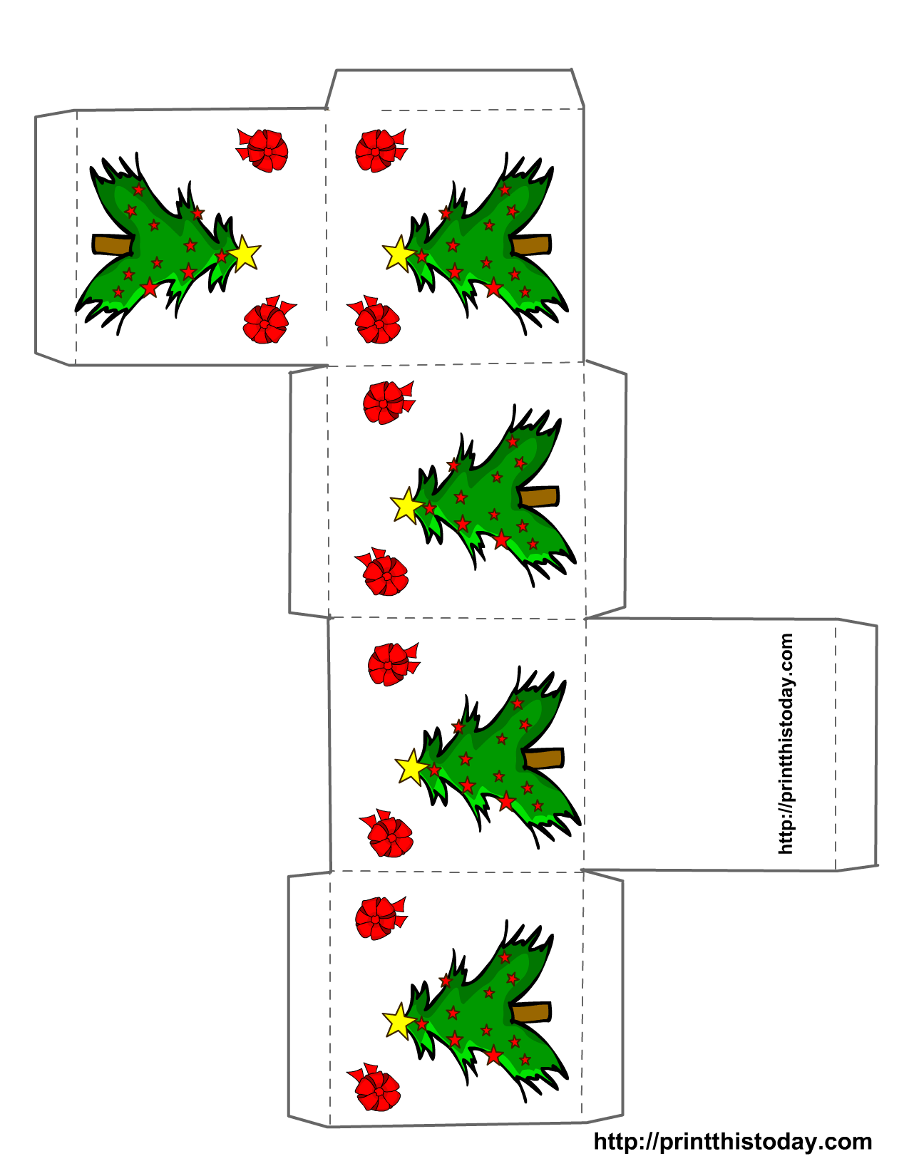 Free Printable Christmas Boxes