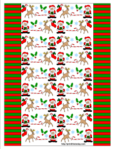 Candy wrappers with Santa Claus, Reindeer,Candy Cane and Snowflakes