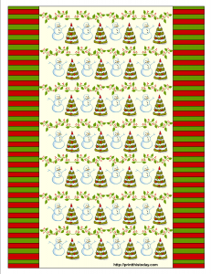 Candy Wrappers with snowman, Christmas tree and Christmas Vine