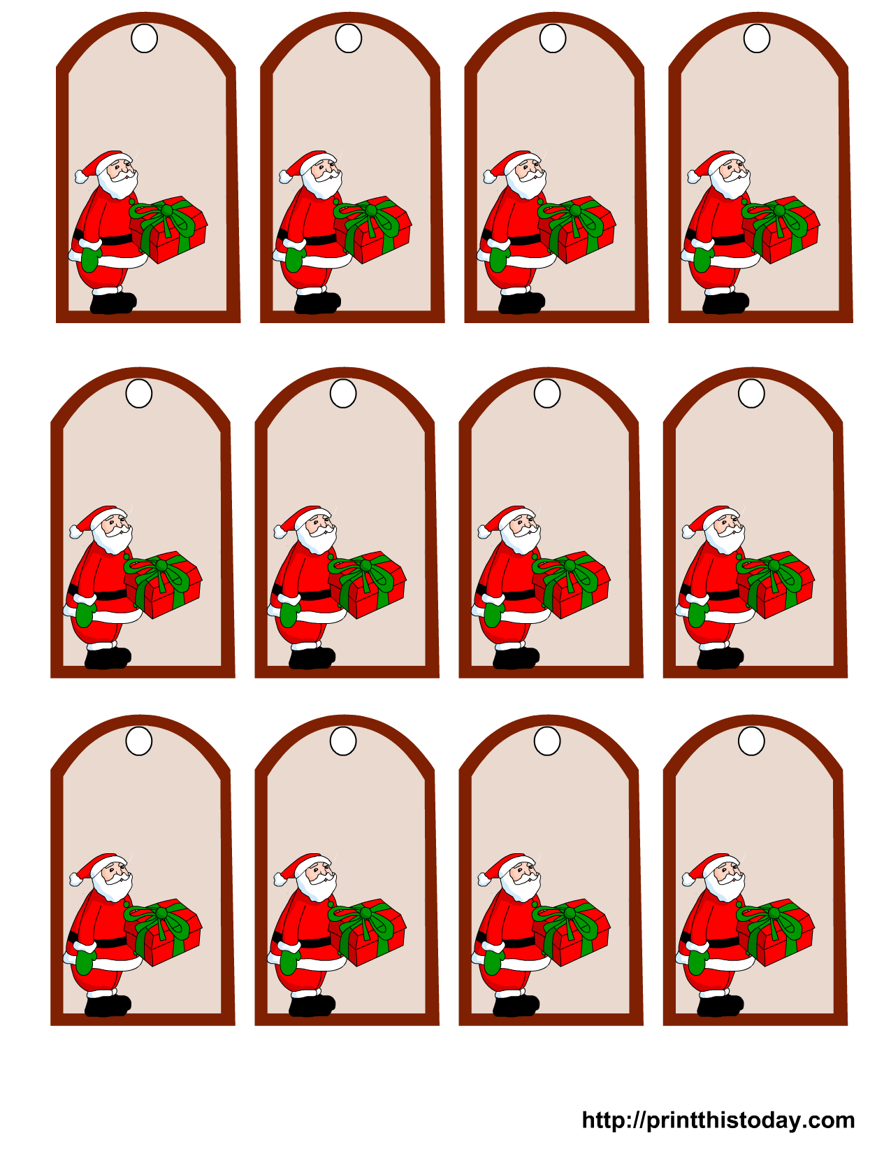 It's just an image of Invaluable Santa Gift Tags Printable