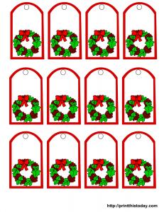 Free printable mistletoe Christmas gift tags