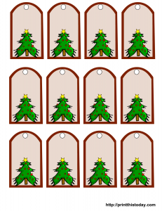 Cute Christmas gift tags with Christmas Tree