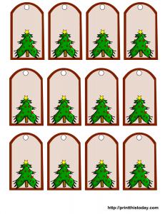 Cute Christmas gift tags with Christmas Tree
