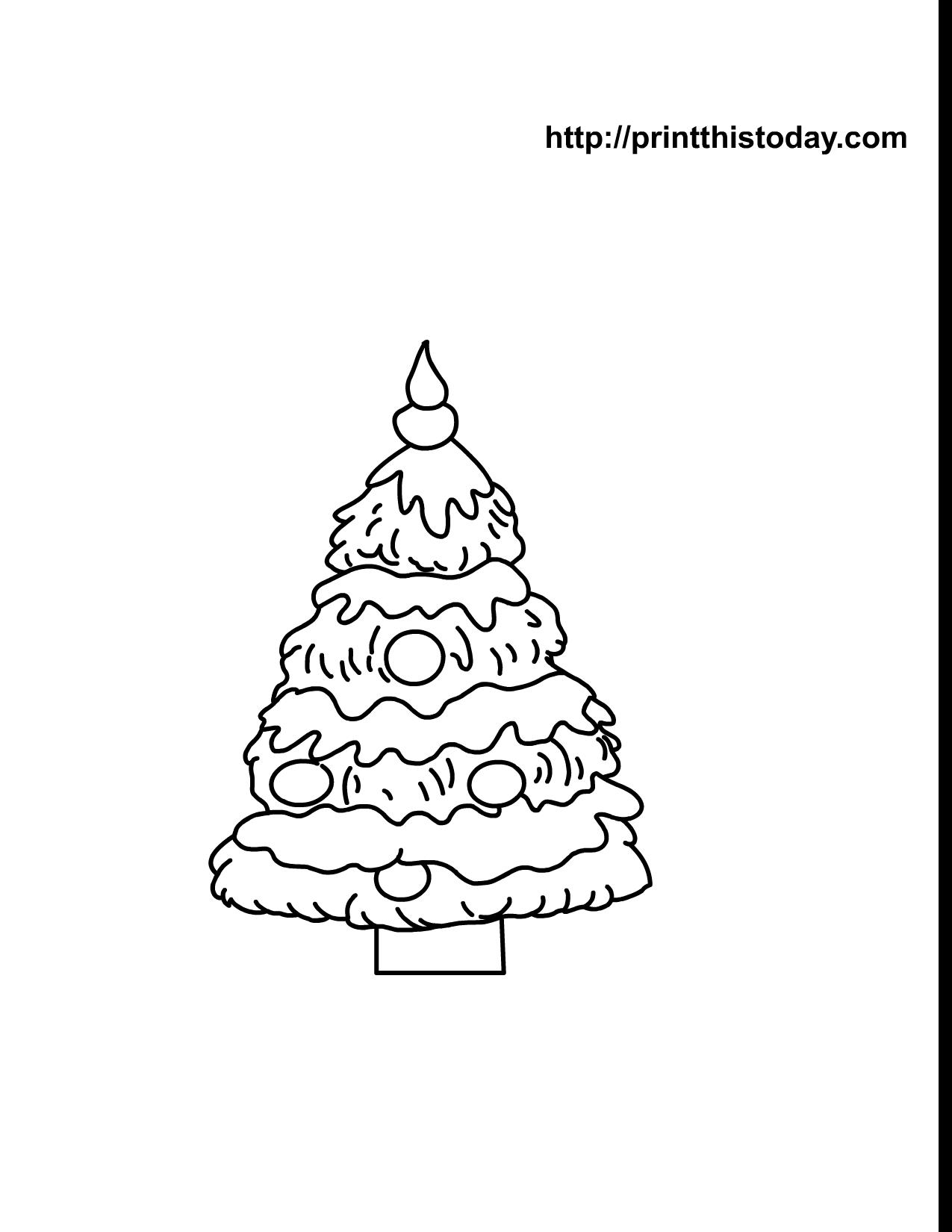 Free Printable Christmas Tree Coloring