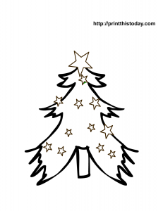 Adorable free printable Christmas tree