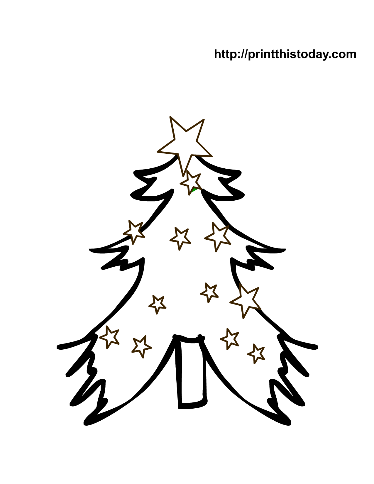 Free Printable Christmas Tree Coloring