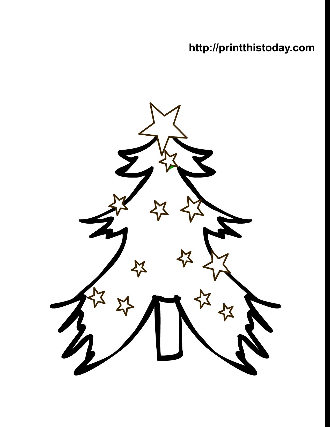adorable free printable christmas tree - Coloring Pages Of Christmas Trees 3
