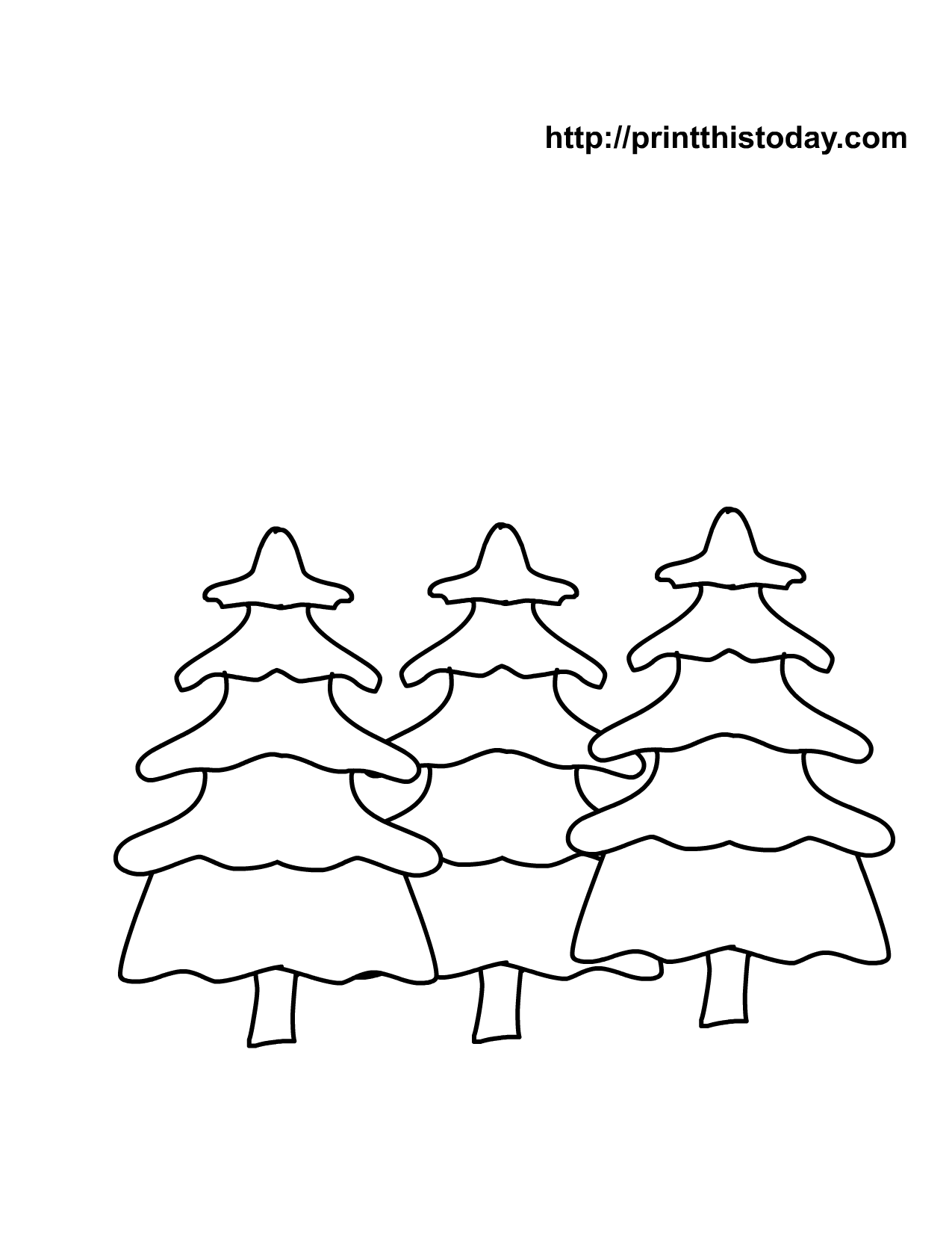 Christmas Trees Coloring Page