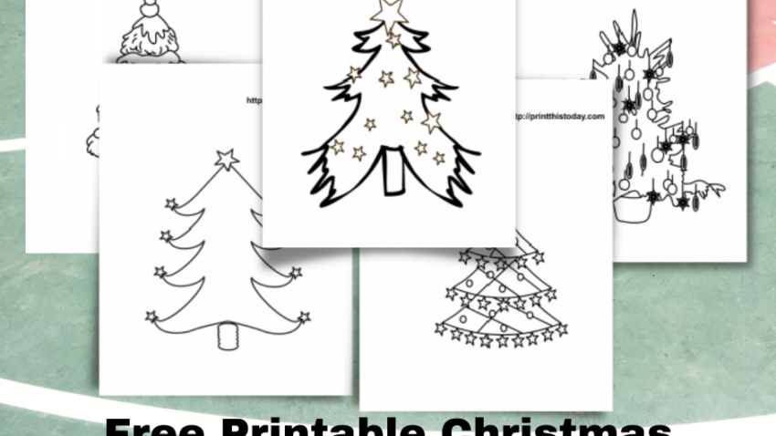 Free Printable Christmas Tree Coloring Pages