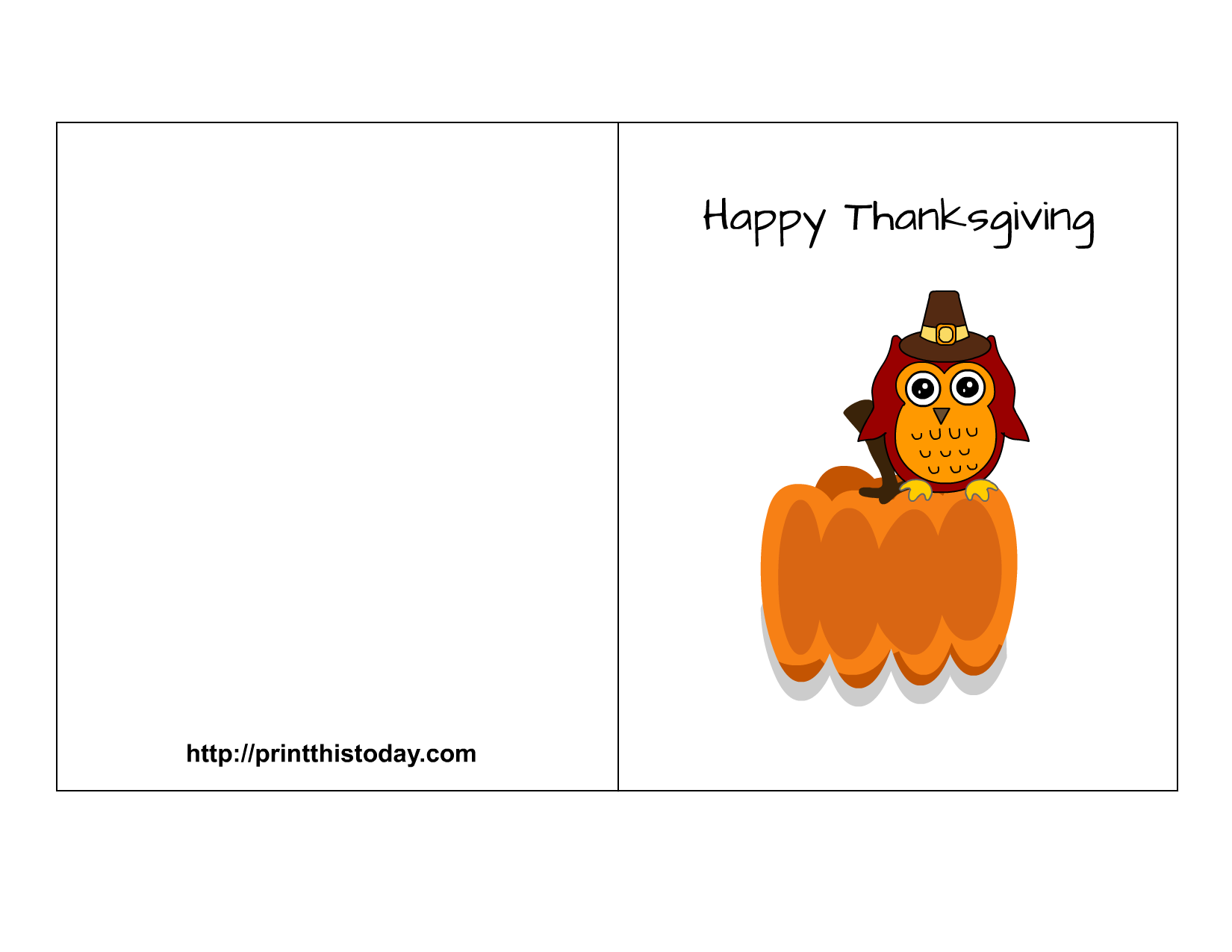 Free printable thanksgiving cards happy thanksgiving card m4hsunfo