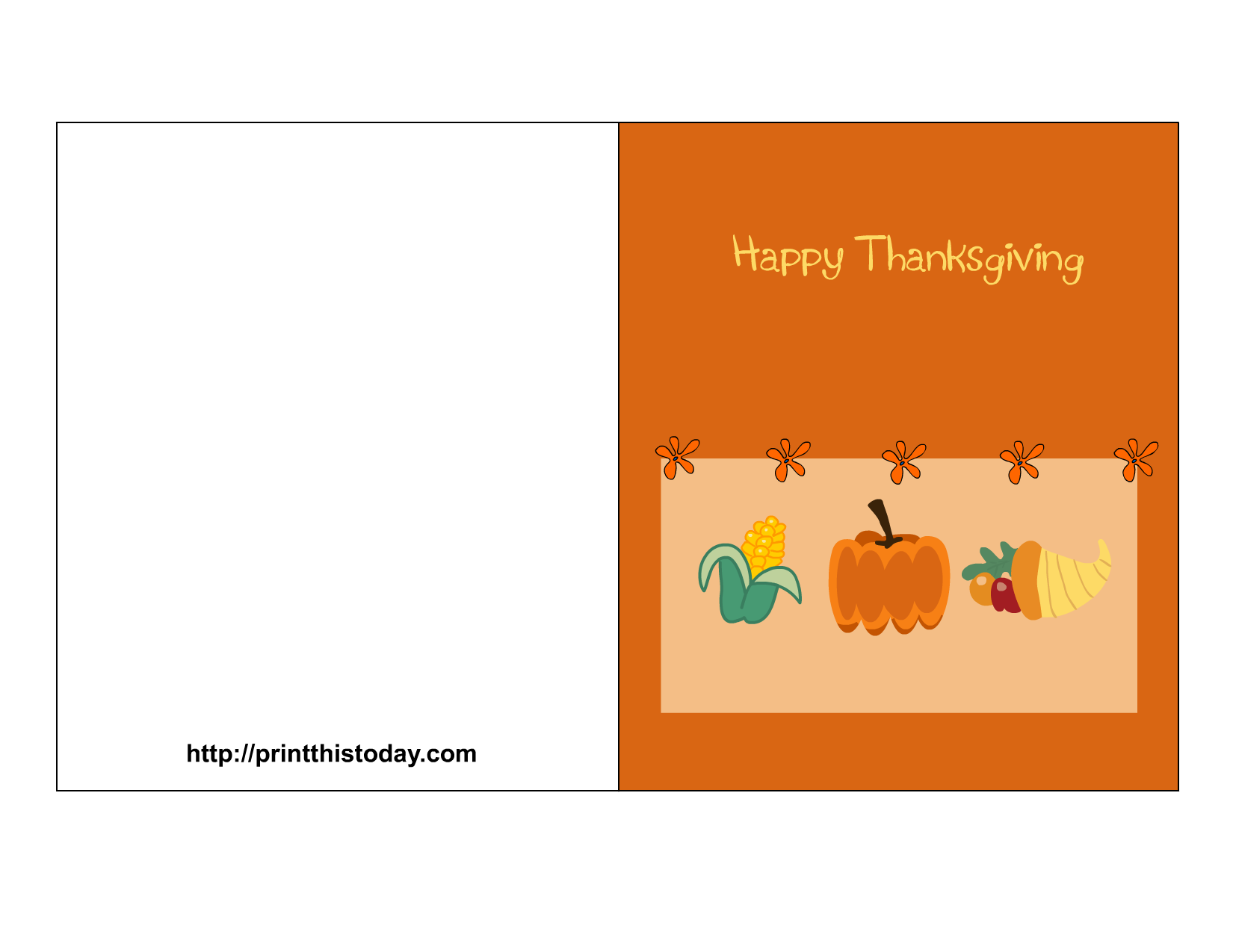 image relating to Printable Thanksgiving Cards named Cost-free Printable Thanksgiving Playing cards