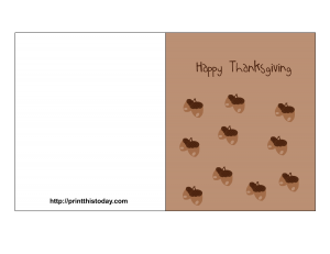 Thanksgiving Card featuring Acorn