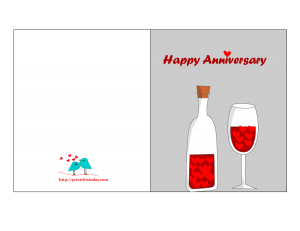 picture about Printable Anniversary Cards identified as Absolutely free Printable Anniversary Playing cards