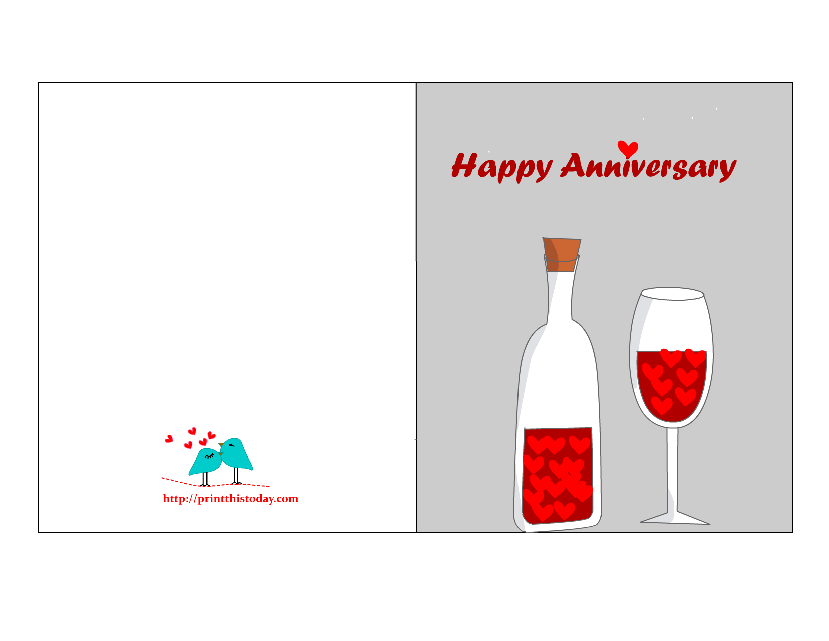 Captivating Free Printable Anniversary Card Throughout Free Printable Anniversary Cards